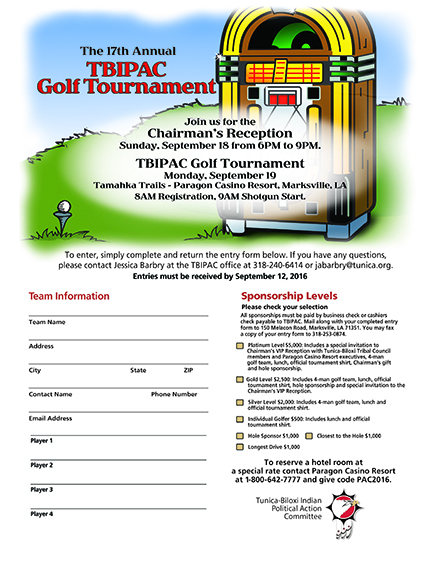 2016 Golf Registration Flyer