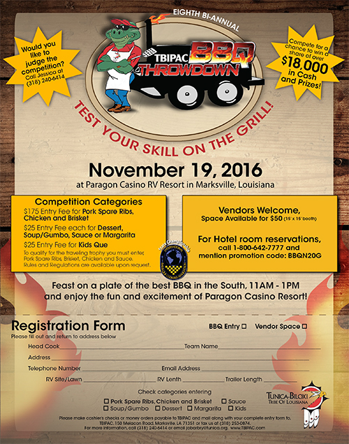 Fall 2016 BBQ Throwdown Flyer