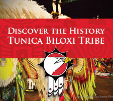 tunica biloxi tribe button